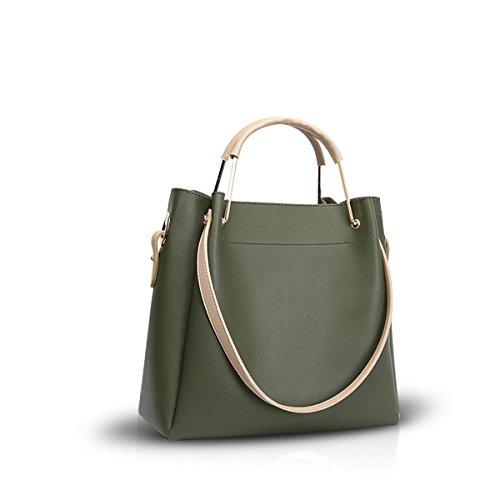 NICOLE&DORIS Neue Frauen Crossbody Handtaschen Umhängetasche Tote Big Bag PU Grün
