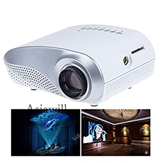 Asiawill 24W LCD Home Mini Projector LED Portable Projector w/ HDMI / VGA / AV / USB / SD / TV Supports HDMI - White