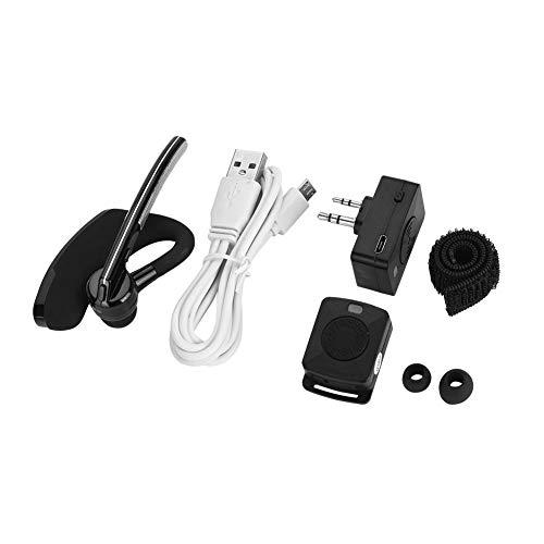 Tangxi Auricolare walkie-Talkie Wireless Bluetooth Singolo, Struttura a Forma di M Cuffie Radio bidirezionali per Kenwood Baofeng Motorola HYT