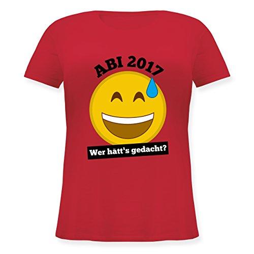 Abi & Abschluss - Abi 2017 - Wer hätt's gedacht? - Lockeres Damen-Shirt in großen Größen mit Rundhalsausschnitt Rot
