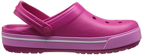Crocs Crocband II.5 Clog, Unisex-Erwachsene Clogs, Schwarz (Black/Charcoal 070),  43/44 EU (M10/W12 US) Pink (Candy Pink/Party Pink)