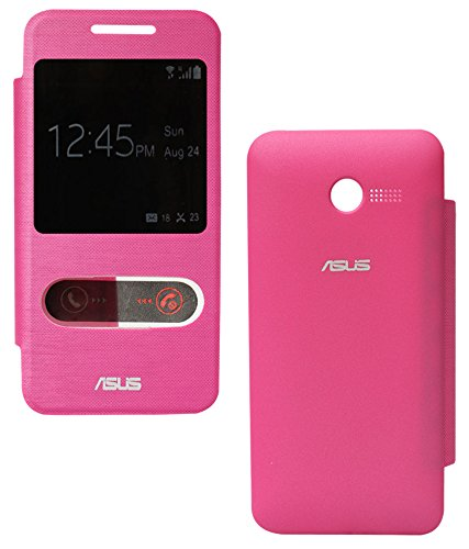 DMG S View Flip Book Cover Case for Asus Zenfone 4 (Magenta)  available at amazon for Rs.99