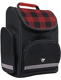 Clairefontaine 812764c - Un sac à dos Damier 1 compatiment 26x15x36 cm en polyester Rouge et Noir