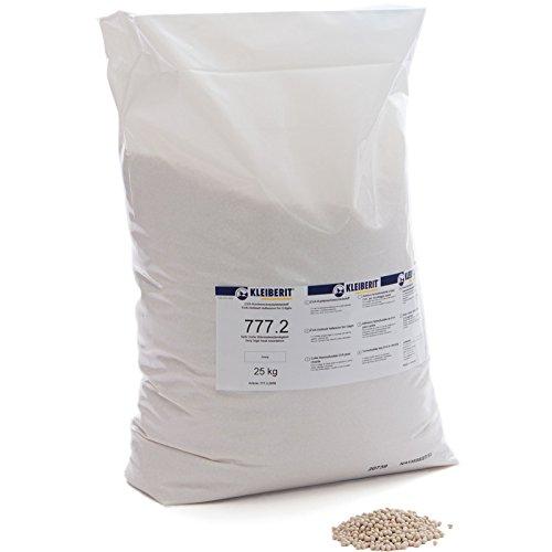 25-kg-Sack elfenbein Schmelzkleber Granulat KLEIBERIT 777.2 EVA Schmelzklebstoff zum Kanten leimen Möbelkanten Umleimer