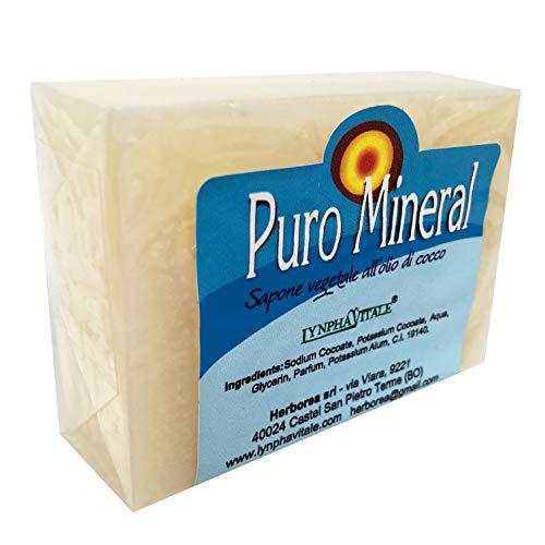 Sapone artigianale antiodore all'allume di rocca - Puro Mineral - 100%  naturale e vegetale - Sapone antiodorante e detergente ideale per qualsiasi