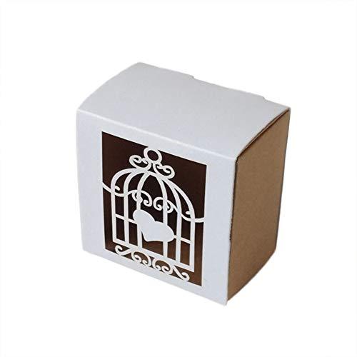 Billty 100 Stück Geschenkbox Schmuck Schachtel Gastgeschenke Süßigkeiten Schokolade Kartonagen Favour Box für Hochzeit Geburtstag Party Taufe