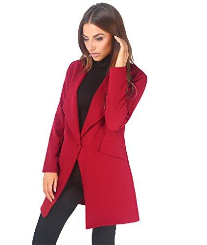 auténtica venta caliente diseño novedoso bonita y colorida KRISP Chaqueta Mujer Ancha Blazer Largo Ancho Talla Grande ...