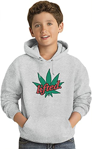 Lifted weed marijuana kush blaze it stoned faded felpa leggera con cappuccio per bambini lightweight hoodie for kids | 80% cotton-20%polyester| 14-15 yrs