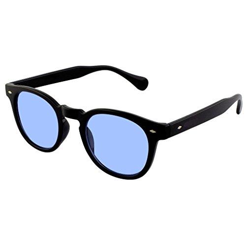 Kiss occhiali da sole stile moscot mod. depp fumè gradiente - vintage johnny depp uomo donna cult unisex - nero/blu
