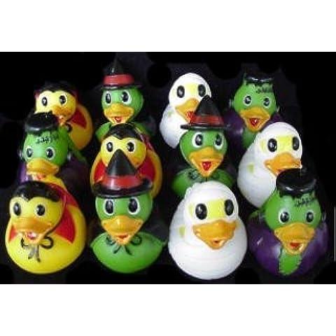 Dozen Assorted Halloween Costume Mini Rubber Ducks Ducky - 2.5 by Rhode Island Novelty - Rhode Island Costume