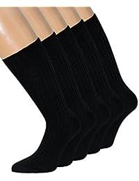 Herrensocken Schwarz 100% Baumwolle schwarze Herren Socken 100% Baumwolle 39-42 43-46 47-50, 1 Paar oder 10 Paar