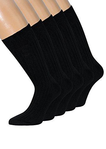 Herren Socken Schwarz 100 Baumwolle schwarze Socken Herren 100 Baumwolle 10 Paar(39-42, 10 Paar schwarz) (Baumwolle-pyjama Herren-Ägyptische)