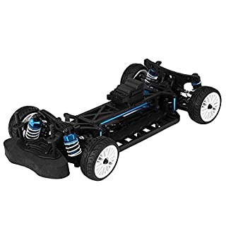 Dilwe RC Auto Rahmen, 1/12 Aluminiumlegierung RC 4WD Elektro On Road Chassis Kit für ZD Rennwagen