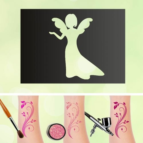 Stencil per tatuaggi con segno zodiacale della vergine, autoadesivo