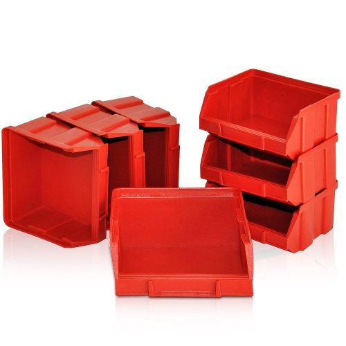 Deuba® Wandregal + Stapelboxen ✔ 32 tlg Box ✔ extra starke Wandplatten ✔ Regal erweiterbar ✔ Werkstattregal Lagerregal Werkstattwandregal Steckregal - 5