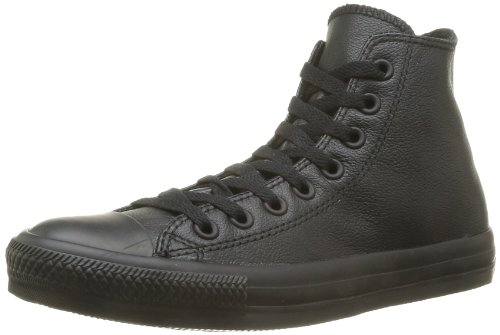 Converse, All Star Hi Leather Sneaker,Unisex Adulto, Nero (Black Mono), 40