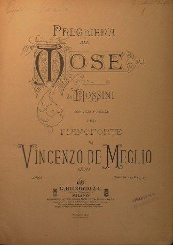 VOLUME CON BRANI VARI : Rossini Preghiera del Mos - Gounod Ave Maria - Bard La Duchessa del Bal Tabarin - Leoncavallo Mattinata - Puccini Madama Butterfly - Bizet Pescatori di perle etc etc