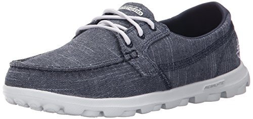 Skechers The-Go - Mist, Damen Hallen & Fitnessschuhe Blau EU 41 (Schuhe Distressed Canvas)