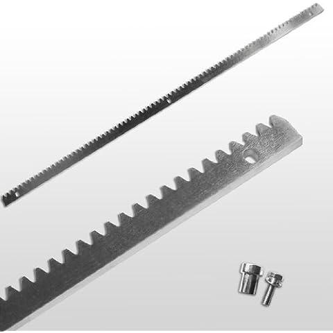 Jago - Carril dentado y tornillos de sujeción para puerta corredera STAN01