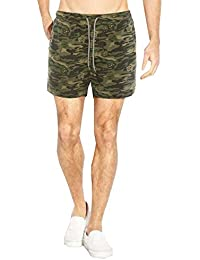 Mens Brave Soul Richmond Designer Tropical Camouflage Print Swimming Shorts