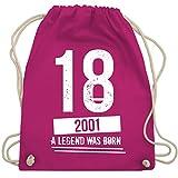 Geburtstag - 18 Geburtstag Jungs 2001 - Vintage Motiv - Unisize - Fuchsia - WM110 - Turnbeutel & Gym Bag