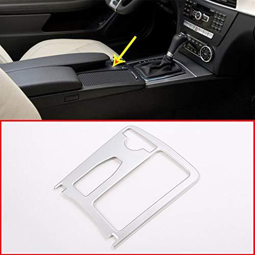 Für C-Klasse W204 2008-2013 Auto ABS matt silber Mittelkonsole Becherhalter Rahmen Trim Zubehör - Auto-rahmen