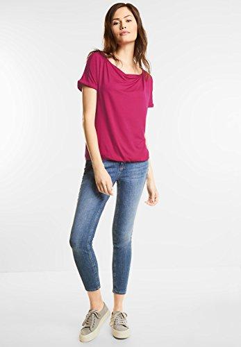 Street One Damen Shirt mit Wasserfallkragen funky pink (pink)