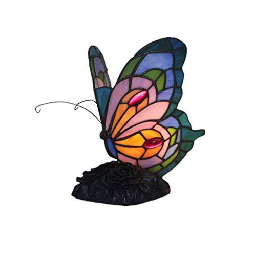ZY * Luce europea Tiffany LED farfalla per bambini notte luce semplice lampada creativa resina sedile illuminazione interna soggiorno camera da letto studio Villa apparecchio 220 / 240W A +++