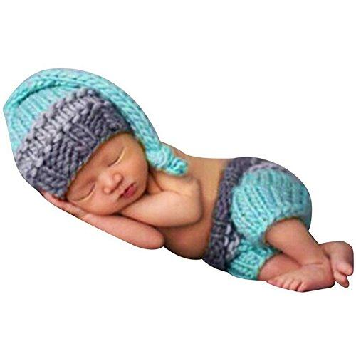 Highdas Neugeborene Baby Kostüm Foto Fotografie Hut Set Junge Kostüm Nette Stricken (Eco Friendly Kinder Kostüme Für)