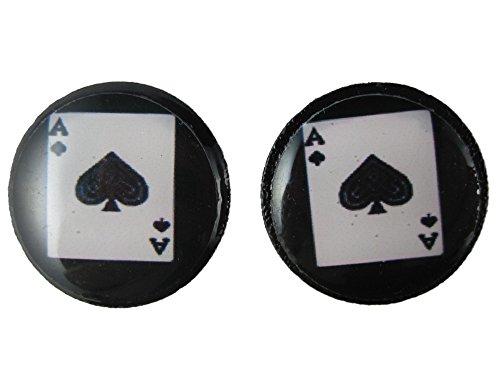 Ohrringe Stecker Ohrstecker federleicht Kunststoff Karte Skat Kartenspiel Pik As Poker 2680 (Post Pik)