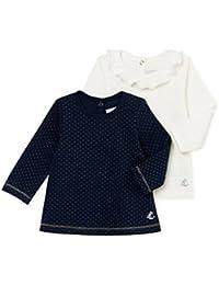 Petit Bateau Baby-Mädchen Langarmshirt, 2er Pack