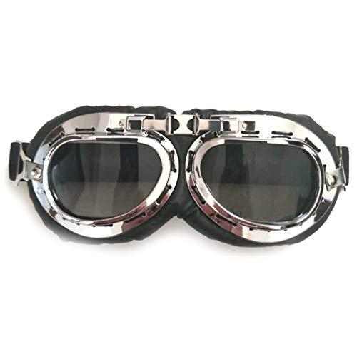 Sgsg Harley-Brille beschlagfrei, Winddicht, Kunststoff-Sicherheitsglas Motorradbrille, Motocross Aviator Ski Motorrad Biker, Vintage, Classic, Flieger,2