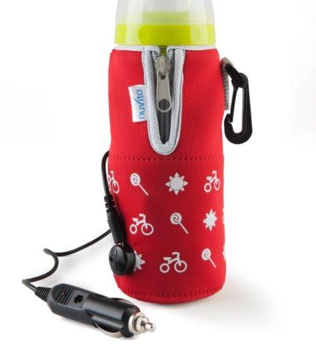 Nuvita I010Hb036036 Travelmilk Felxi Scaldabiberon Da Auto Con Cavo Staccabile, Rosso