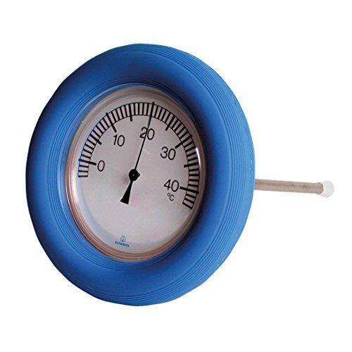 POWERHAUS24 Klassischer Schwimm-Ring-Thermometer mit Befestigungskordel