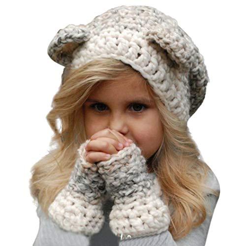 LOLIAN Winter Kids Warm Eichhörnchen Tier Hüte Gestrickte Kapuze Schal Mützen für Gentleman Bodysuit Hochzeit Anzug Junge Mädchen Langarm Winter Baumwolle ganzjahres Schlafanzug
