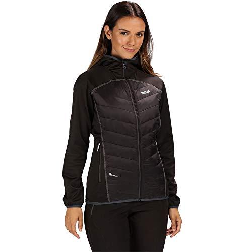 Regatta Damen Andreson Iv Lightweight Insulated And Water Repellent Hybrid Down Jacke, Schwarz, 36 EU (Herstellergröße: 10)