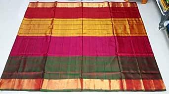 Uppada pure Silk pattu Saree With blouse piece by Divadolls Devinestyle