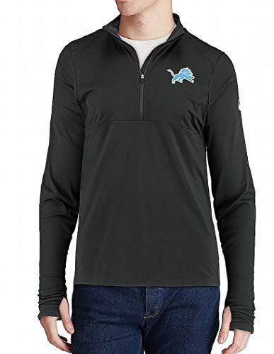 Nike Mens Medium Detroit Lions 1/2 Zip Mock-Neck Sweater Black M - Nike Activewear
