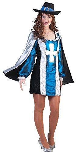 Musketier Alexandra Damen Kostüm in Blau - Gr. 44 46