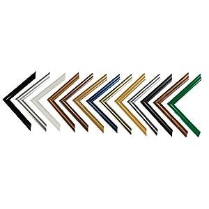 Easy Kunststoff-Bilderrahmen 32,7x94,8 cm 94,8x32,7 cm Farbwahl: hier Schwarz hochglanz mit Acrylglas