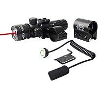 Hoonee Vista holográfica de Puntos Rojos y Verdes Tactical Reflex 2 Diferentes retículas Herramienta de Caza con monturas