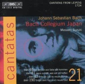 Bach: Cantatas, Vol 21 (BWV 65, 81, 83, 190) /Bach Collegium Japan · Suzuki