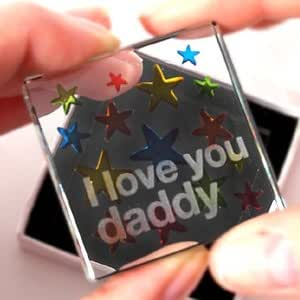 Spaceform Collectable Glass Token - I Love You Daddy