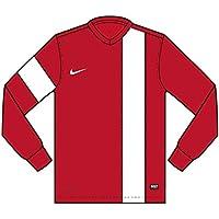 Nike Long Sleeve Top Striker III Jersey, Unisex, Long Sleeve Top Striker III Jersey, Rosso University/Bianco, XS