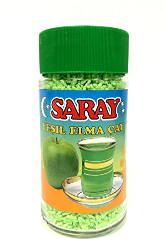 6 x 200g Saray Instant Tee mit grüner Apfelgeschmack Tee - Yesil Elma Cay
