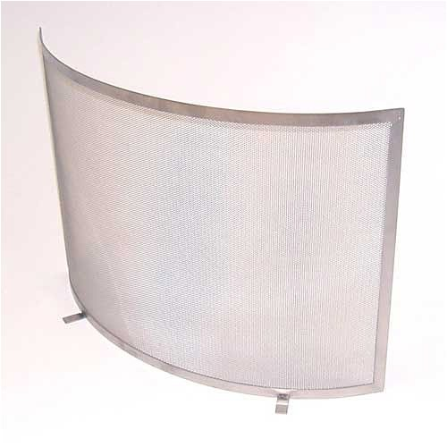 Funkenschuztgitter Stahl gebürstet mit Drahtgewebe, (BxH) 72 x 51 cm - Stahl Gebürstet 72