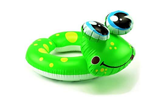 OKCS Frosch Schwimmring für Kinder zwischen 3-5 Jahren - Ring Aufblasbar Kinder Pool Urlaub Sonne Strand Meer Wasser - Grün