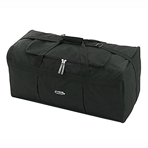 Marco Extra Large 27 inch Black Travel Cargo Holdall Luggage Duffel Carry Bag (Black)