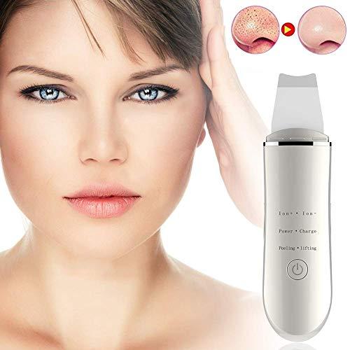 AMY Elektrischer Mitesserentferner, Peeling Shovel Facial Porenreiniger 3 Modi Facial Lifting Tool für Frauen - Edelstahl Haar Shaper