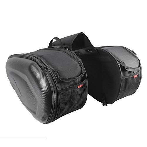 AITOCO Motorrad Satteltaschen Motorrad Koffer Wasserdichte Reisegepäck Taschen Erweiterbar Kapazität Helm Essen Trinken Reise Halter - Erweiterbar Reisegepäck